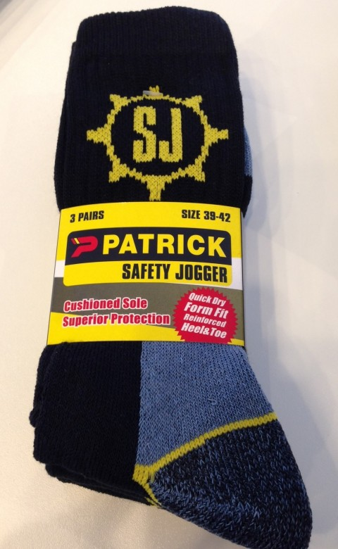 Safety Jogger Kousen 3-Pack Zwart